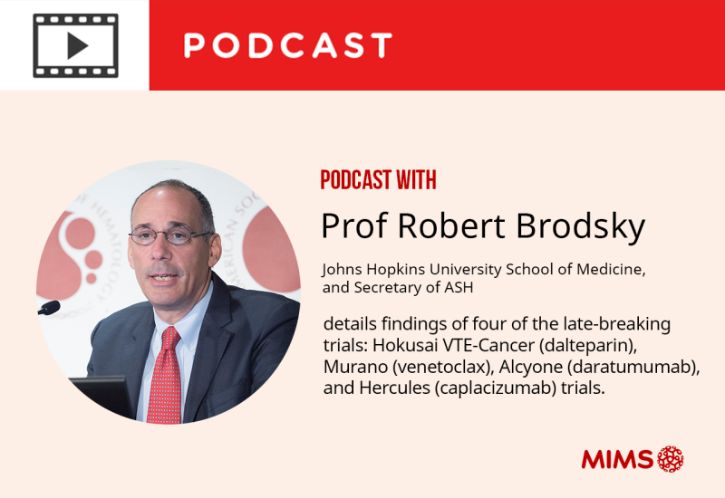 Podcast: Prof Robert Brodsky details findings of four of the late-breaking trials at ASH 2017